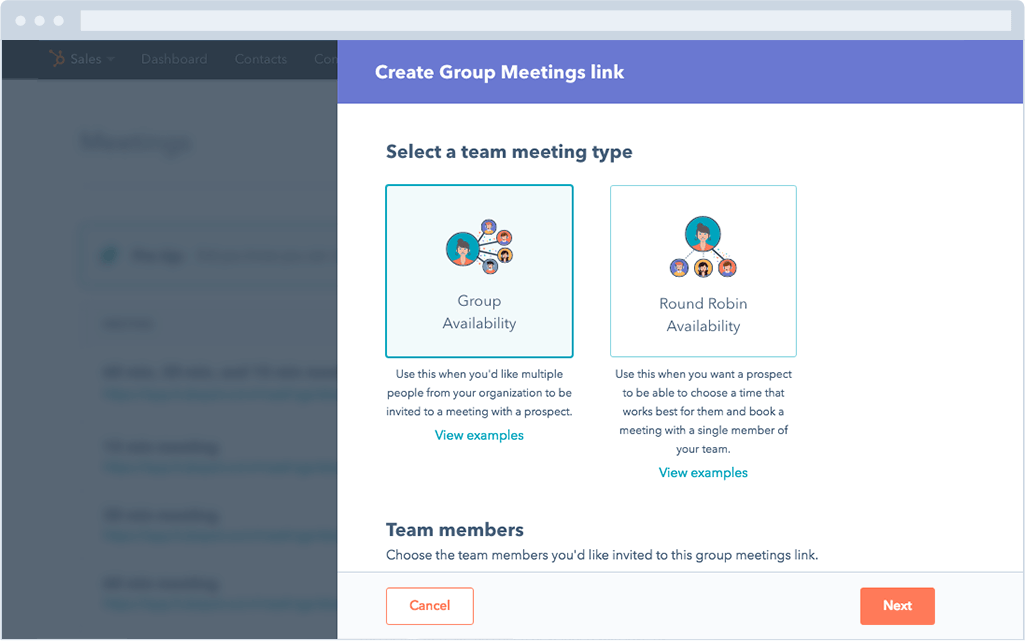 Hubspot meetings para equipos.png